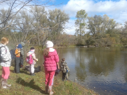 homeschool program checking out the geese learning about birds 20151016